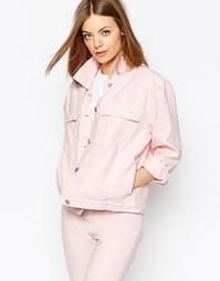 Oversize-куртка из денима Waven Karin - Бледно-розовый