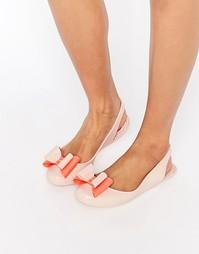 Туфли на плоской подошве с открытой пяткой и бантом Zaxy Gift