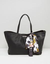 Сумка для покупок со съемным шарфом Love Moschino - Черный