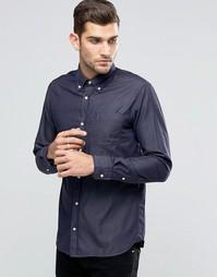 Темно-синяя премиум‑рубашка в джинсовом стиле Jack & Jones - Синий