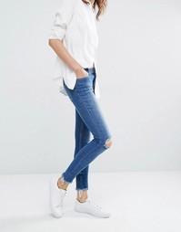 Зауженные джинсы с выбеленным эффектом Samsoe & Samsoe Alice - Синий Samsøe &; Samsøe