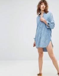 Джинсовое платье‑рубашка Maison Scotch Roosters - 48 синий