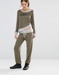 Спортивные штаны с контрастной лентой Sundry - Оливковый