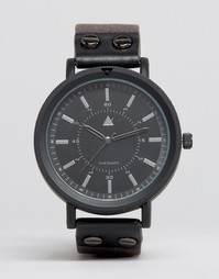 Черные часы с заклепками ASOS - Серый