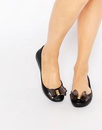 Туфли с блестящим бантиком Zaxy Start - Черный