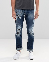 Темные прямые джинсы с рваной отделкой Replay Maestro No.2