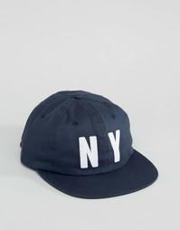 Классическая 6-панельная кепка HUF NY - Синий