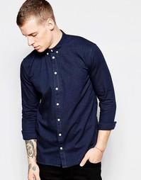 Фланелевая рубашка на каждый день Minimum - Темно-синий