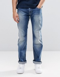 Синие джинсы слим с потертостями Pepe Hatch E64 - Tint glory