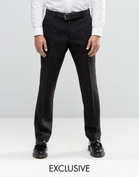 Строгие зауженные брюки в крапинку Heart & Dagger - Черный