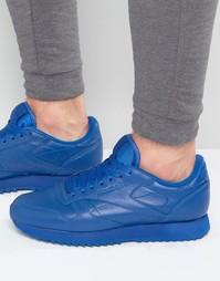 Синие кожаные классические кроссовки Reebok Ripple AR2350 - Синий