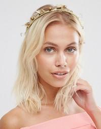 Диадема с камнями Johnny Loves Rosie Cora - Bronze floral