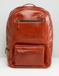Коричневая кожаная сумка с двумя карманами Royal RepubliQ - Коричневый