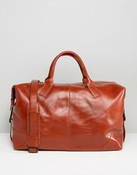 Коричневая кожаная сумка Royal RepubliQ Supreme - Коричневый