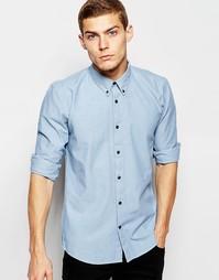 Рубашка из шамбре с длинными рукавами Junk De Luxe - Синий