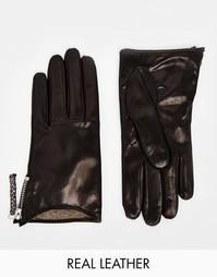 Кожаные перчатки на молнии Paul Smith - Черный