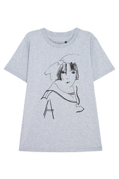 Хлопковая футболка Aizel