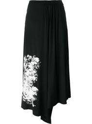 асимметричная юбка с цветочным принтом Yohji Yamamoto
