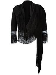 пиджак с бахромой Moschino Vintage