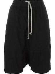 шорты с эластичным поясом Rick Owens DRKSHDW