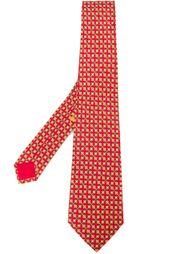 галстук с геометрическим узором Hermès Vintage