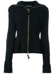 трикотажный пиджак с баской Alexander McQueen