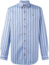 полосатая рубашка с вышитым логотипом Vivienne Westwood Man