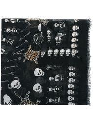платок с узором 'Obsession' Alexander McQueen