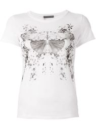 футболка с принтом мотылька  Alexander McQueen