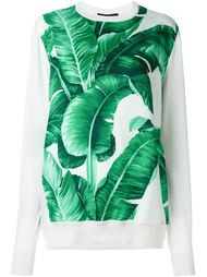 толстовка с банановыми листьями Dolce & Gabbana