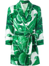 пиджак с принтом банановых листьев Dolce & Gabbana