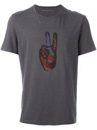 футболка с принтом руки John Varvatos