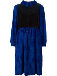 бархатное платье  Lanvin Vintage