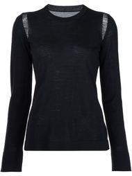 свитер с прозрачными панелями на плечах Maison Margiela