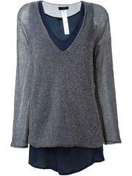 многослойный свитер с блеском Twin-Set