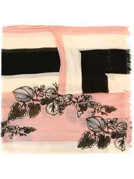 шарф с цветочным принтом   Twin-Set