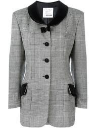 пальто в клетку  Moschino Vintage