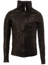high neck leather jacket Isaac Sellam Experience
