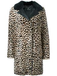 пальто с леопардовым принтом   Twin-Set
