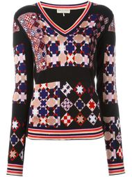 свитер с геометрическим узором  Emilio Pucci