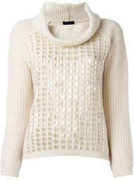 декорированный вязаный свитер  Twin-Set