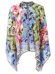 рубашка-пончо с абстрактным принтом   Etro