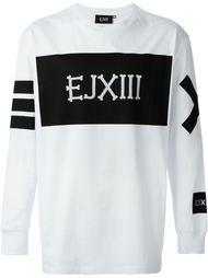 толстовка с белым принтом логотипа Ejxiii