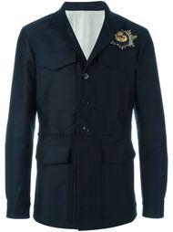 куртка в стиле милитари с заплаткой с черепом Alexander McQueen