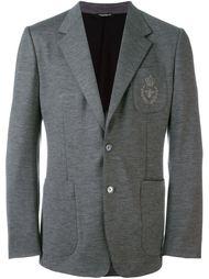 блейзер с вышивкой эмблемы Dolce & Gabbana