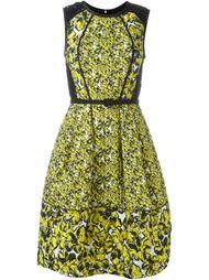 вечернее платье с цветочной вышивкой Oscar de la Renta