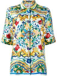 рубашка с принтом Majolica  Dolce & Gabbana