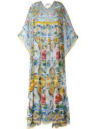 платье-кафтан с принтом Majolica Dolce & Gabbana