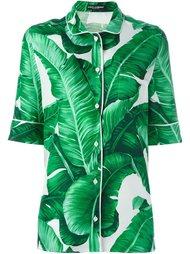 блузка с принтом банановых листьев Dolce & Gabbana