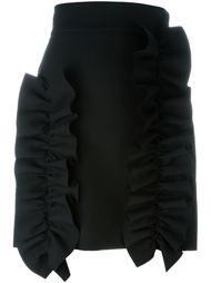 короткая юбка с драпировкой MSGM